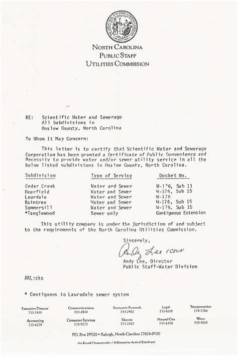 Certificate Of Necessity Letter Letter Of Convenience