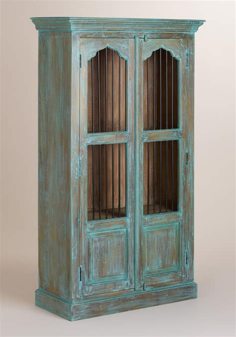 metal and wood cabinet doors teal wood cabinet with metal door everything turquoise