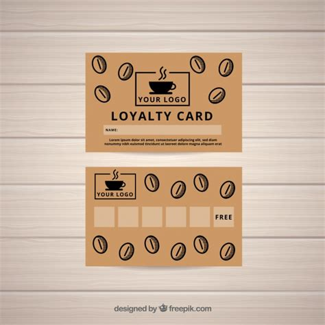 free coffee loyalty card template coffee shop loyalty card template vector free