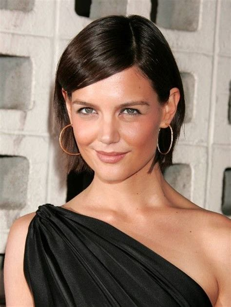 a place for fashion short chin length hairstyles katie holmes chin length bob hair my style pinterest