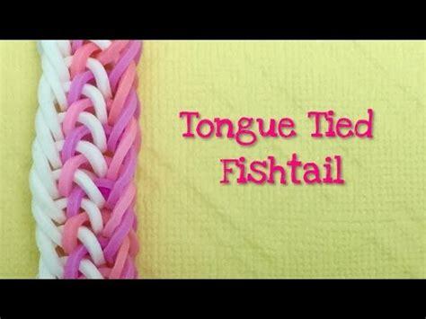 rainbow loom bands tongue tied fishtail tutorial youtube