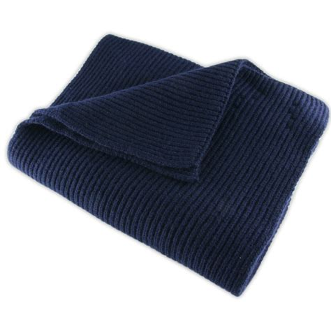 Black Co Uk Navy Blue Knitted Scarf In Blue For