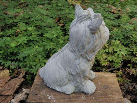 yorkie garden statue cement terrier yorkie 8 034 garden concrete statue ebay