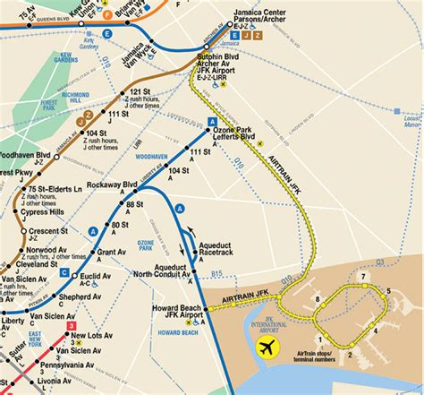 jfk airtrain map jfk airport map detail triphoney