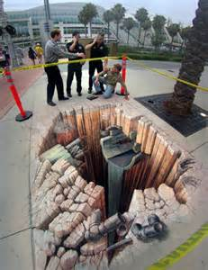 Optical illusion 3d street art wordlesstech