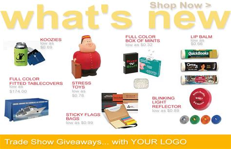 Trade Show Promotional Giveaways - trade show giveaways imprinted cheap tradeshow giveaways custom trade show giveaways