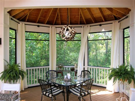 outdoor curtains for screened porch Porch Craftsman with