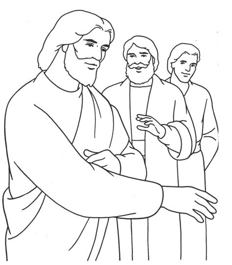 coloring pages jesus and denies jesus coloring page coloring home