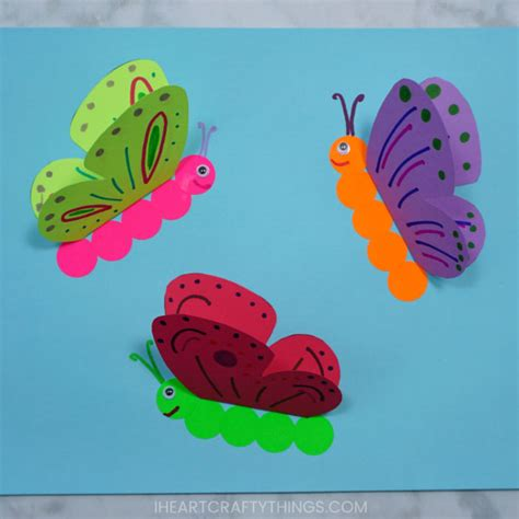 How To Make A 3d Paper Butterfly - how to make a 3d paper butterfly craft i crafty things