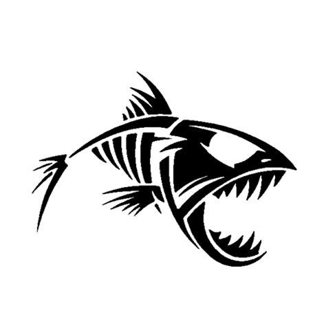 skeleton fish decals images