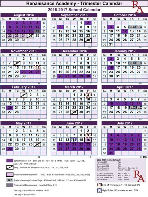 2018 16 academic calendar template 2 academic schedule template composition exle