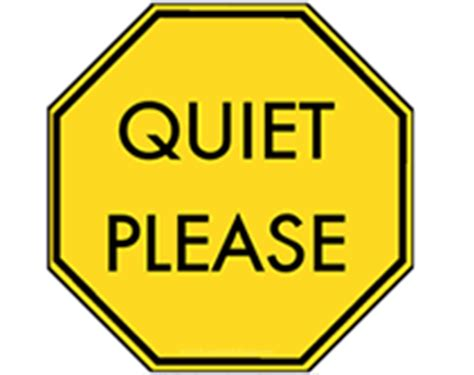 printable quiet signs quiet please sign clipart best