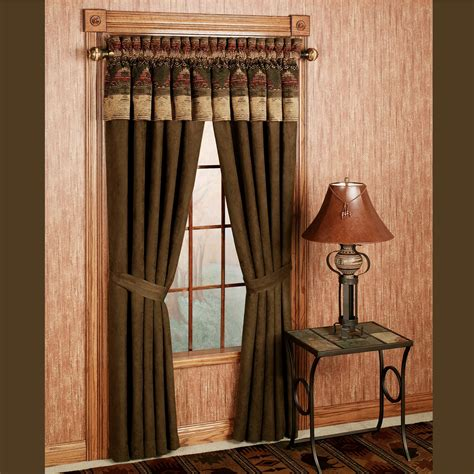 drapes with valance sierra curtains with valance