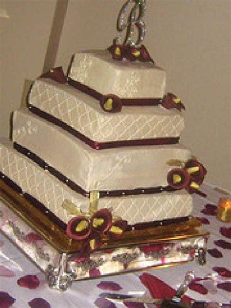 Calla Square by Burgundy Calla Lillies Square Wedding Cake Cakecentral