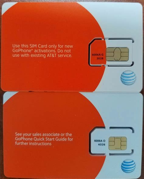 how to register new sim card new at t prepaid go phone 4g sim card ready activate sku 6006a ebay