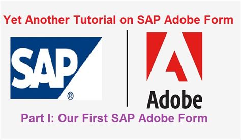 tutorial sap adobe forms sap training tutorial education tips tweaks tricks