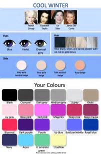 cool winter color palette 12 seasonal palettes 3 winters expressing your