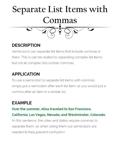 comma or semicolon how to use semicolons the visual communication guy