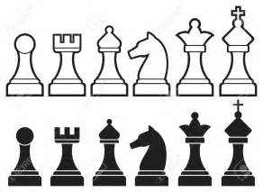 Chess Pieces Outline by Chess Overview Info