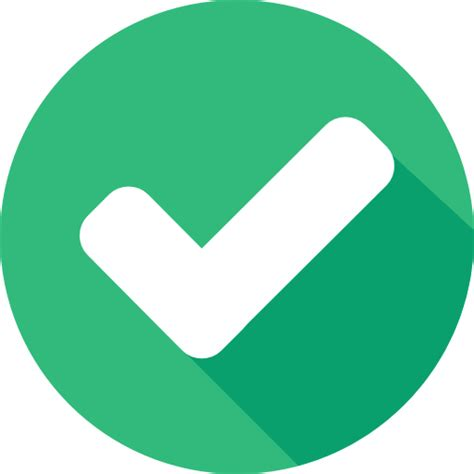 Flat Architecture by Shapes And Symbols Success Interface Tick Checked Icon