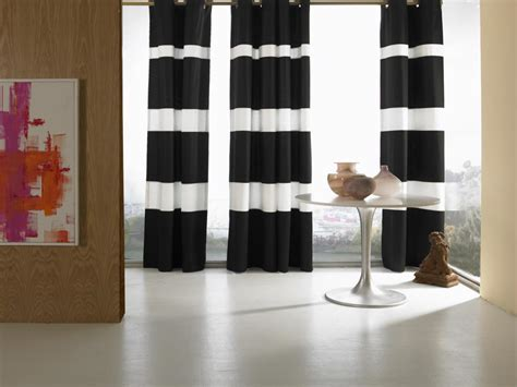 Black And White Striped Drapes Design Ideas | 15 stylish window treatments window treatments ideas