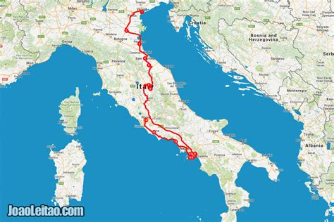 road travel map driving in italy san marino venice to rome road trip