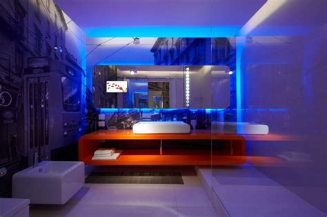 led lighting bathroom ideas amazing small bathroom design with blue led lights decors