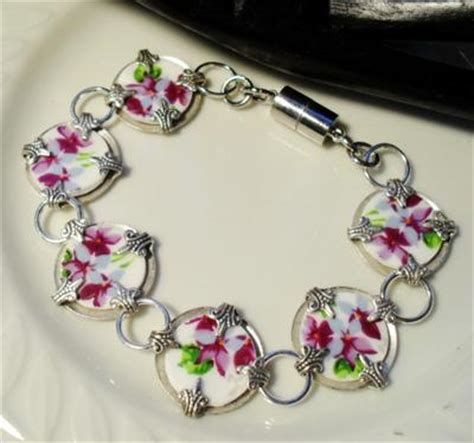how to make jewelry from broken china handcrafted broken china bracelet jewelry journal