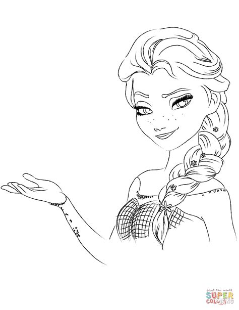 frozen elsa coloring pages elsa from the frozen coloring page free printable
