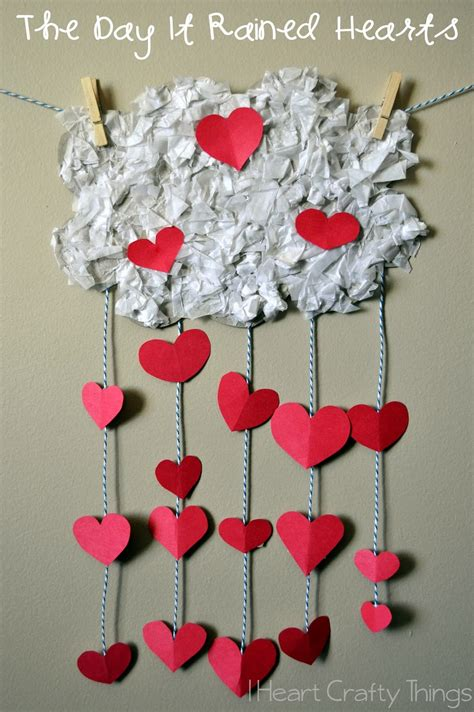 valentines craft projects the day it rained hearts valentines craft for i