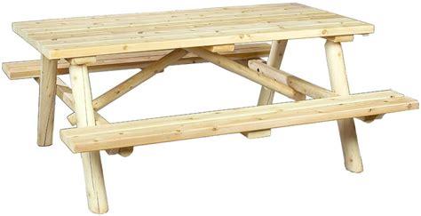 rustic cedar log style wood garden bench reviews wayfair cedarlooks rustic log cedar wood picnic table bench