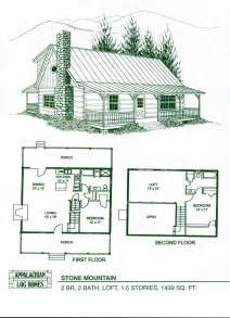 Floor Plans For Cabins by Cabin Home Plans With Loft Log Home Floor Plans Log