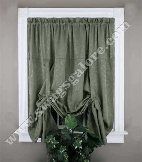Tie Up Curtains Whitfield Jacquard Tie Up Shade White Lorraine Kitchen Valances
