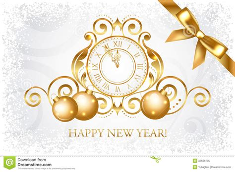 new year gold vector silver gold happy new year card royalty free stock photo