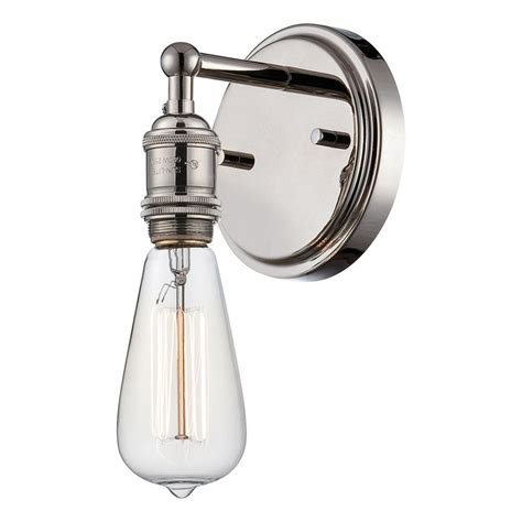 Polished Nickel Sconces by Sconce Wall Light In Polished Nickel Finish 60 5415