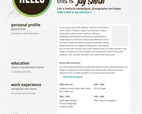 Templates Wordpress Resume | 6 best wordpress resume cv templates