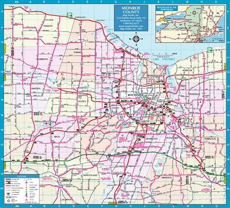 Rochester Ny january 2012 free printable maps
