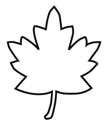 leaf pattern black and white clipart black and white digital illustration of maple leaf outline