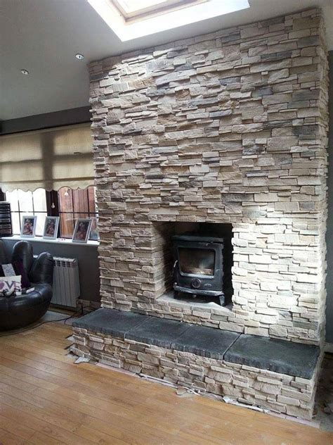 Fireplace, chimney breast transformation   Deco Stones