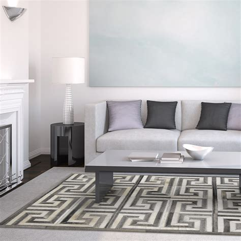 black and white key rug cow hide rug grey white key 4 l x 6 h madisons inc rugs touch of modern
