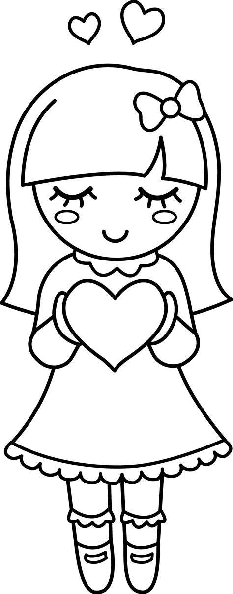 valentine cartoon coloring pages cartoon coloring pages valentine coloring clipart 71