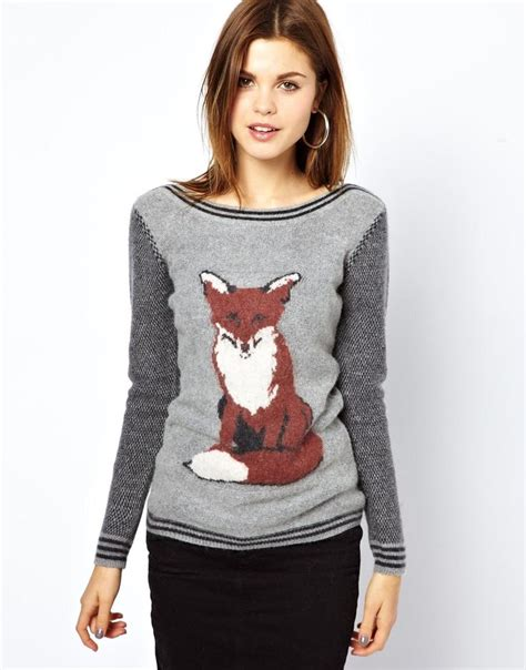 Fox Sweater a wear fox print jumper