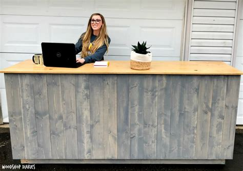 how to build a standing desk how to build your own diy standing desk kiosk with