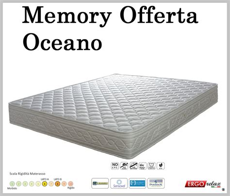 materasso 180x200 materasso memory mod oceano 180x190 195 200 altezza cm