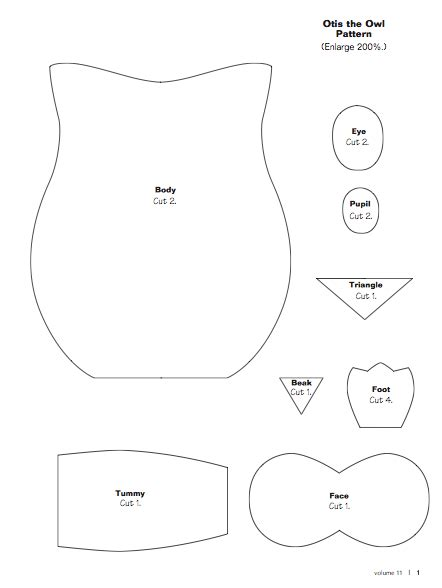 large printable owl body owl patterns owl and patterns on pinterest
