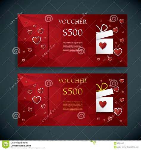gift card text template s day gift card voucher template present and