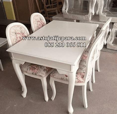 Putih Set set meja makan putih duco desain garengan asto jati jepara