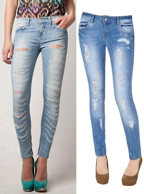 como decorar mis jeans rotos jeans de moda rotos