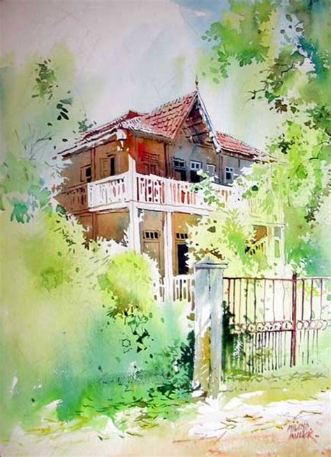 watercolor house painting watercolor home pinterest pin by anjali puntambekar on indian artists pinterest