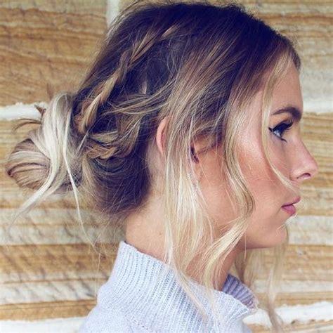 buns hairstyles medium length hair 20 medium length hairstyles for thin hair
